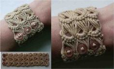 How To Make A Lace Weave Bracelet – Broomstick Lace Pattern .............http://diyfunideas.com ===========BEST DIY SITE EVER!