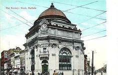 Buffalo New York 1905 Buffalo Savings Bank Collectible Antique Vintage Postcard