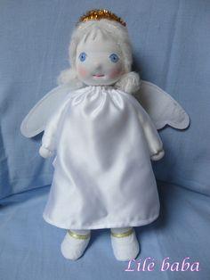 Hópihe,angyalka textilbaba | Lilé baba - textilbaba és játék webáruház