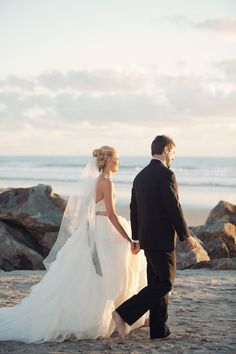 Photography: Joshua Aull Photography - www.joshuaaull.com  Read More: http://www.stylemepretty.com/california-weddings/2014/03/27/san-diego-garden-inspired-beach-wedding/