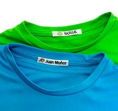 Etiqueta de colores para marcar la ropa