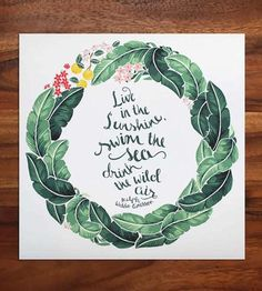 Banana Leaves Quote Art Print by Karla Pruitt on Scoutmob Shoppe