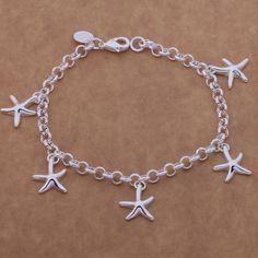 Sl-ah124 bán buôn bạc mạ vòng đeo tay, 925 có dán tem bạc đồ trang sức thời trang con sao biển/bgiajxpa afhaiwoa