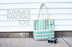 free - summer madras tote pattern - Noodlehead