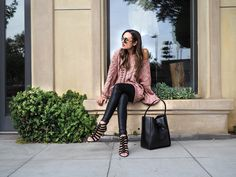 Shalice Noel in The Leatherette Legging Ankle