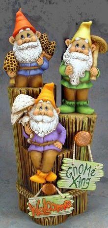 Garden Gnome Trio by CeramicsbyMelody on Etsy, $42.00