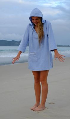 Hooded towel surf dress and changing robe poncho by GIRLSWHOSURF