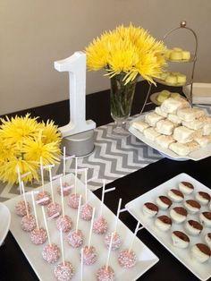 TABLE RUNNER  Grey Zig Zag Chevron Pattern - Wedding Shower Home Decor Buffet Table - Customizable. $18.00, via Etsy.