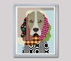 Cocker Spaniel Dog Art, Cocker Spaniel Dog Poster, Cocker Spaniel Dog Pet Portrait, Pop Art Dog, Animal Art, Dog Painting, Dog Wall Art  AVAILABLE FOR SALE