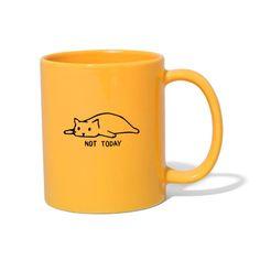 Geschenke Shop | Cat not today 002 - Tasse einfarbig Uni, Tableware, Diy Ideas, Twitter, Color, Gatos, Cute Stuff, Objects, Cat Mug