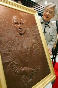 Chocolate art- Mona Lisa! I wonder what Da Vinci would think!?