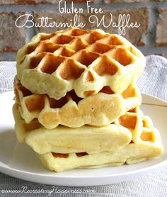 Gluten Free Buttermilk Waffles. Perfect for weekend brunch!