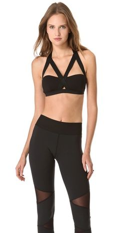 The Michi Feline Bra is made for the gym and the treadmill but comes from the catwalk. So chic!