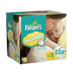 Pampers Swaddlers Diapers Economy Pack Plus Size 1, 234 Count (Packaging May Vary) Health & Personal Care