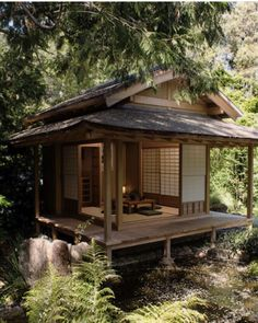 A tea house in my backyard YES PLEASE! can find Tea houses and more on ou. Japanese Home Design, Japanese Style House, Traditional Japanese House, Japanese Interior, Japanese Architecture, Futuristic Architecture, House Architecture, Tiny House Design, Future House