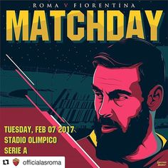 #Repost @officialasroma with @repostapp ・・・ #MatchDay e... #FamoStoStadio! 🔶🔴 Carichi❓ *** Follow @officialasroma on Instagram *** #DajeRoma #ForzaRoma #giallorossi #seriea #calcio #football #italia #DeRossi #DDR #stadiodellaroma #sdr #graphic #infographic #design #olimpico #romaart #viola