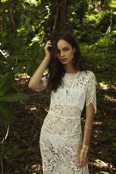 Our Luna Maxi Dress in White | For Love & Lemons PACIFIC GETAWAY Spring 2015 Lookbook