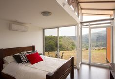 Generous glazing and open planning overcome any limitations of just 800 sq ft of space.