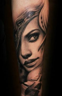 Female Face Tattoo Outline Female tattoo her face