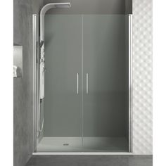 Mampara de ducha GME-OPEN I. Frontal de 2 puertas abatibles - europebath
