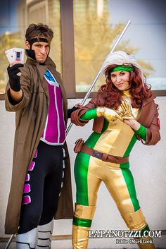 Gambit and Rogue - X-Men | Megacon 2013 I want to dress up like this one year! They were my favorites! 'Cher.  Im thinking of cosplay ideas??? -Bunni