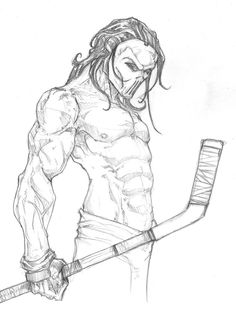 Not sure why he's so crazy buff, but I dig it.  Casey Jones TMNTZ by *ChrisOzFulton on deviantART