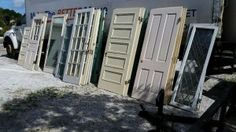 Just in! Various Salvaged doors from our recent job in Winter Haven.  Call or email for sizes and pricing.