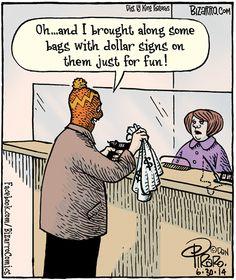 Bizarro by Dan Piraro - June 2014 Jokes Pics, Funny Meme Pictures, Funny Quotes, Funny Memes, Hilarious, Cartoon Jokes, Funny Cartoons, Hotel Humor, Bizarro Comic