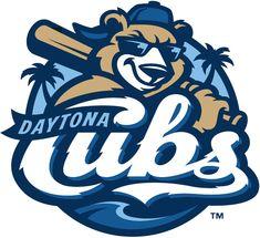 Daytona Cubs Primary Logo on Chris Creamer's Sports Logos Page - SportsLogos. A virtual museum of sports logos, uniforms and historical items. Team Logo Design, Mascot Design, Logo Inspiration, Logo Luxury, Sports Graphic Design, Sports Team Logos, Minor League Baseball, Bold Logo, Sports Graphics