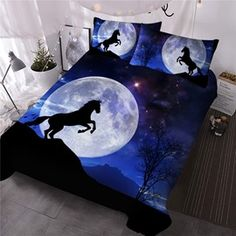 Comforter Sets, Hand Washing, Moonlight, Comforters, 3d Printing, Horses, Printed, Artwork, Design