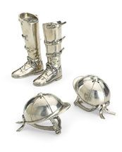 "Vagabond House ""Riding Boots"" & ""Riding Helmut"" [sic] Salt & Pepper Shakers"