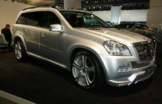Not crazy over silver usually, but this Mercedes Benz GL550 is SWEET!