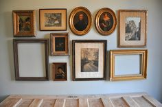 gallery wall art tutorial, totally doing this with all my ship pictures over the couch!