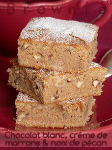 Alter Gusto   Brownie au chocolat blanc, noix de pécan & crème de marrons