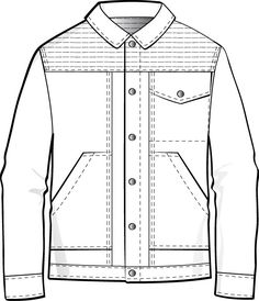 Resultado de imagen para jacket technical drawing