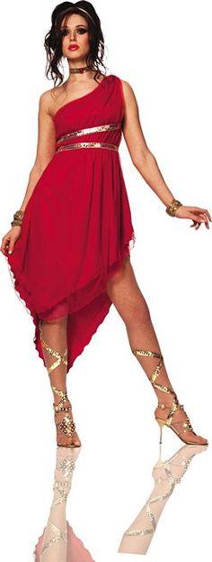 Elise Fav Ruby Costume - Adult Roman Costume