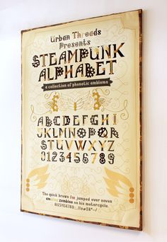 The Steampunk Type Specimen - A new embroidery project from the Urban Threads Lab!