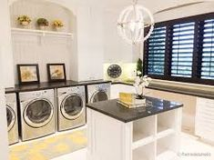 A small laundry room can be a challenge to keep laundry room cabinets functional, yet since this laundry room organization space is constantly in use, we have some inspiring design laundry room ideas. Laundry Room Cabinets, Laundry Room Storage, Laundry Room Design, Basement Laundry, Wall Storage, Shoe Storage, Storage Bins, Extra Storage, Diy Storage