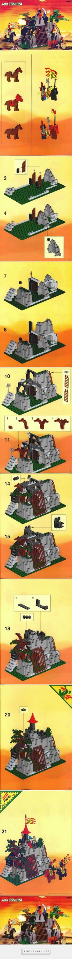 LEGO Dark Dragon's Den Instructions 6076, Castle - created via https://pinthemall.net