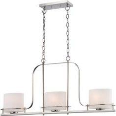 Nuvo Loren 3-Light 60-Watt Polished-Nickel Pendant | Overstock.com Shopping - The Best Deals on Chandeliers & Pendants