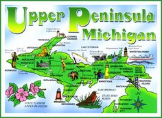 How many of these Upper Peninsula attractions have you seen? Lake of the Clouds is a must! Michigan Facts, State Of Michigan, Detroit Michigan, Northern Michigan, Lake Michigan, Destinations, Michigan Travel, Upper Peninsula, Mackinac Island