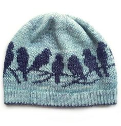 Ravelry: Passerine Hat pattern by Erica Heusser Knitting Charts, Knitting Patterns, Intarsia Knitting, Hat Patterns, Diy Hat, Knit Mittens, Knitted Beanies, Knitted Hats Kids, Knit In The Round