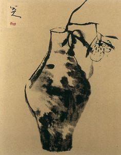 Bada Shanren aka Zhu Da Still Life Poetry Painting, Japan Painting, Plant Painting, Chinese Artwork, Chinese Painting, Gouache, Chinese Landscape, Zen Art, Japan Art