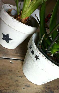 peinture pot terre cuite