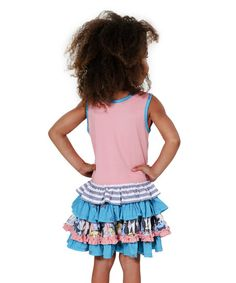 Brightly colored frills take this sweet dress to the next level of fashion, giving her a comfy fit with oodles of girlish beauty.  Shipping note: This item is shipping internationally. Allow extra time for your special find to ship.