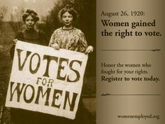 95 years ago, after nearly a century of fighting, women FINALLY won the right to vote. Happy Women's Equality Day! Join us in continuing the fight for women's rights: http://womenemployed.org/get-involved