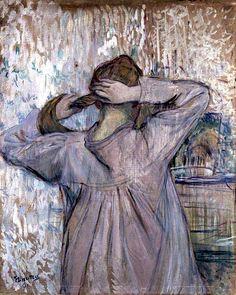 La toilette (celle qui se peigne) -  Henri de Toulouse- Lautrec 1891