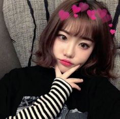 Image about girl in ulzzang by Tropical_a on We Heart It Cute Japanese Girl, Cute Korean Girl, Asian Girl, Ulzzang Short Hair, Korean Short Hair, Pretty Hairstyles, Girl Hairstyles, Uzzlang Girl, Girl Short Hair