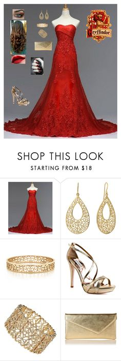 """Yule Ball - Gryffindor"" by sammie2244 ❤ liked on Polyvore featuring Isharya, Tiffany & Co., Badgley Mischka, Wallis and L.K.Bennett"