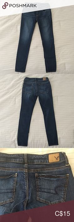 Shop Women's American Eagle Outfitters size 2 Skinny at a discounted price at Poshmark. In good condition, no tears. In size 2 short. American Eagle Jeggings, American Eagle Outfitters Jeans, Size 2, Skinny Jeans, Best Deals, Pants, Closet, Things To Sell, Style